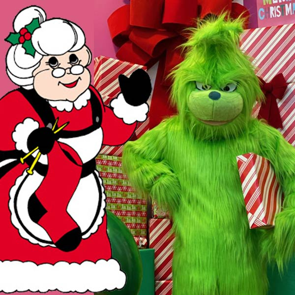 Mrs. Clause and Grinch
