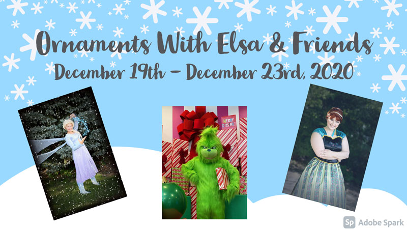 Ornaments with Elsa and Friends